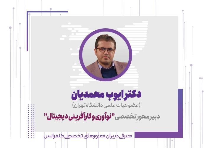 دکتر ایوب محمدیان، دبیر محور نوآوری و کارآفرینی دیجیتال